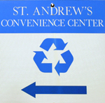 convenience center sign
