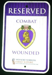 purple heart reserved parking sign