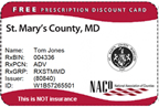 image of saint marys county prescription discount card