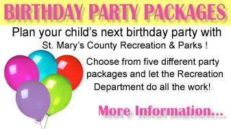 birthday party packages graphic