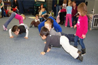 image of children doing push ups