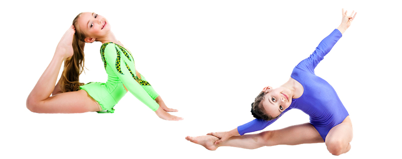 image of children in gymnastics positions.