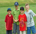 group image of junior golfers smiling