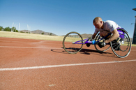 image of paralympic bicyclist
