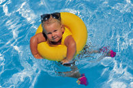 image of toddler in swimming pool