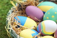 images of colored easter eggs