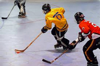 image of children playing roller hockey