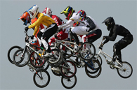 image of children bmx racing