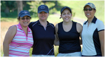 image of female golfers