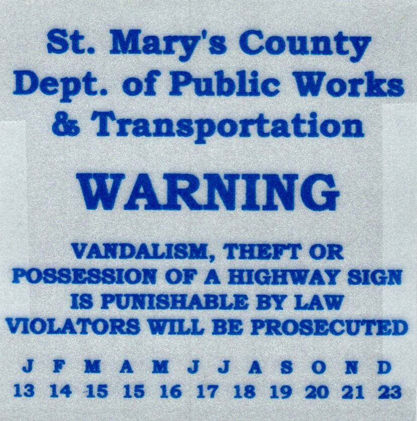 dpw warning sign