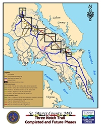 Three notch trail map thumbnail - link to PDF file