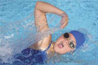 image of child swimming