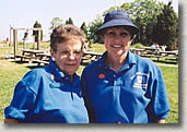 image of two female volunteers
