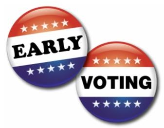 image of early voting buttons