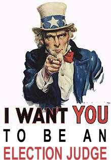 image uncle sam I want you to be an election judge